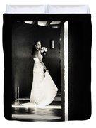 Bride I. Black And White Duvet Cover