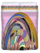 Bride In Layers Of Veils Accidental Discovery From Graphic Abstracts Made From Crystal Healing Stone Duvet Cover