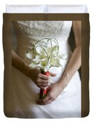 Bride With Lily Bouquet Duvet Cover