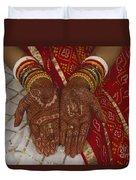 Brides Hands India Duvet Cover