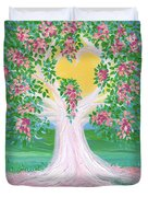 Bride's Tree Pink Duvet Cover