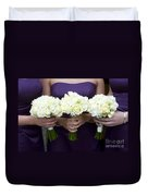 Bridesmaids With Flowers Duvet Cover