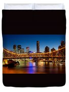 Bridge Across A River, Story Bridge Duvet Cover