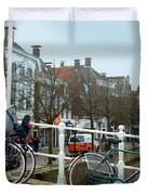 Bridge Across Canal - Amsterdam Duvet Cover