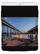 Bridge And Fishing Pier Duvet Cover