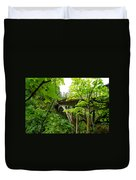 Bridge And Lush Vegetation Duvet Cover