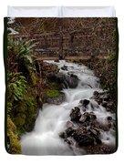 Lower Wahkeena Falls Duvet Cover