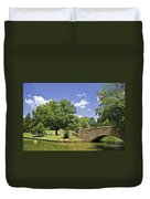 Bridge At A Park In The Summer Duvet Cover