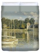 Bridge At Argenteuil Duvet Cover