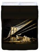 Bridge At Night Duvet Cover