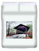 Bridge At Stone Mountain Duvet Cover