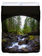 Bridge Below Rainier Duvet Cover