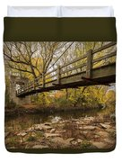 Bridge Between Seasons Duvet Cover