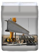 Bridge Building Bw Duvet Cover