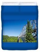 Bridge Connecting Oregon And Washington Duvet Cover