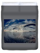 Bridge Curvature In Color Duvet Cover