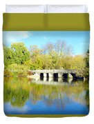 Bridge In A Park Duvet Cover