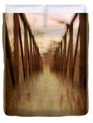 Bridge In Abstract Duvet Cover