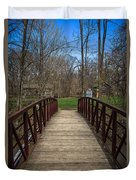 Bridge In Deep River County Park Northwest Indiana Duvet Cover