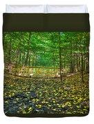 Bridge In Gosnell Big Woods Duvet Cover