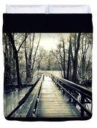 Bridge In The Wood Duvet Cover