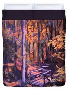 Bridge In Woods Near Pandapas Duvet Cover