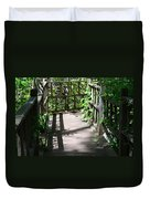 Bridge In Woods Duvet Cover