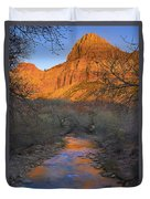 Bridge Mt And The Virgin River Zion Np Duvet Cover