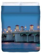 Bridge Of Lions At Dusk St Augustine Florida Duvet Cover