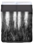 Bridge Of Lions Reflections St Augustine Florida Painted Bw   Duvet Cover