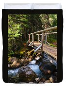 Bridge Over A Mountain Stream Duvet Cover