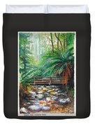 Bridge Over Badger Creek Duvet Cover