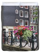 Bridge Over Canal In Amsterdam Duvet Cover