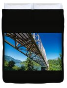 Bridge Over Columbia River Duvet Cover