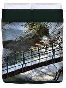 Bridge Over Frozen River Duvet Cover
