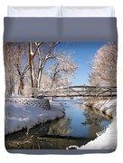 Bridge Over Icy Water Duvet Cover