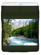 Bridge Over Mcdonald Creek In Glacier Np-mt Duvet Cover