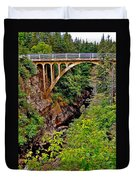 Bridge Over North Harbour River-nl Duvet Cover