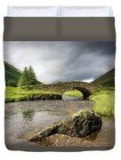 Bridge Over River, Scotland Duvet Cover
