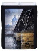 Bridge Over Seine In Paris Duvet Cover