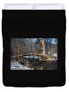 Bridge Over Snowy Valley Creek Duvet Cover