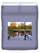 Bridge Over The Pond Duvet Cover