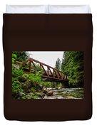 Bridge Over The Snoqualmie River - Washington Duvet Cover