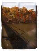 Bridge Shadow In Autumn On The  Duck River Tennessee Fine Art Prints As Gift For The Holidays  Duvet Cover