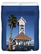 Bridge Street Pier And Clocktower  Duvet Cover