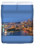 Bridge To The Pittsburgh Skyline Duvet Cover
