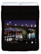 Bridges At Night Duvet Cover