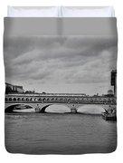 Bridges In Paris Duvet Cover