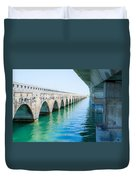 Bridges New And Old Duvet Cover