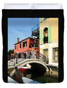 Bridges Of Venice Duvet Cover